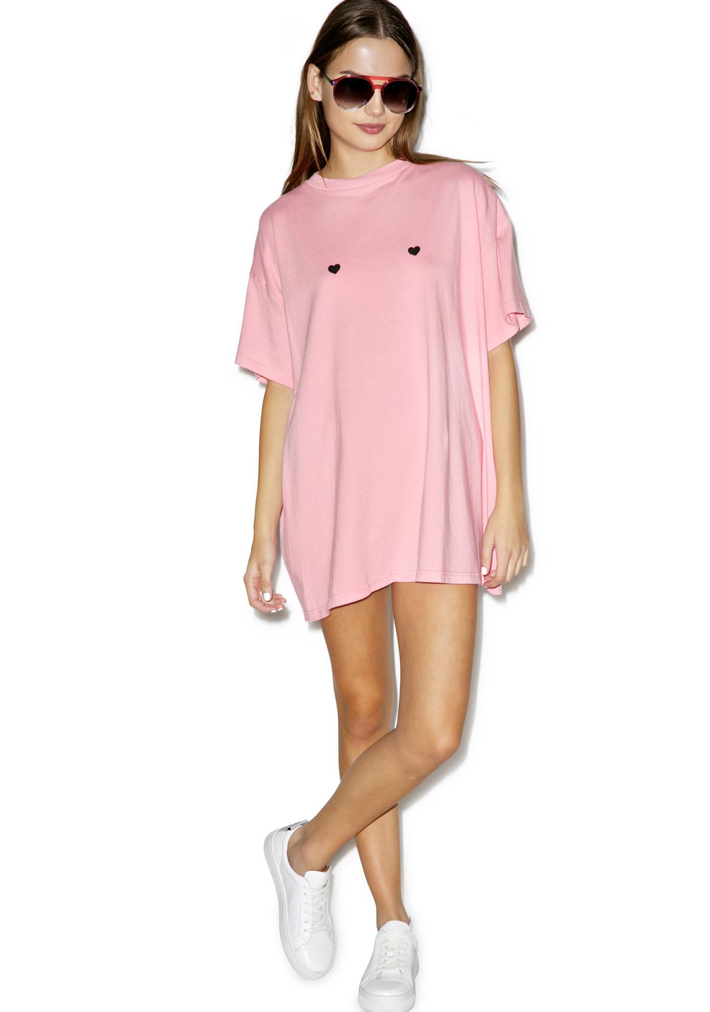 Lazy Oaf Tiny Hearts Oversize T-Shirt