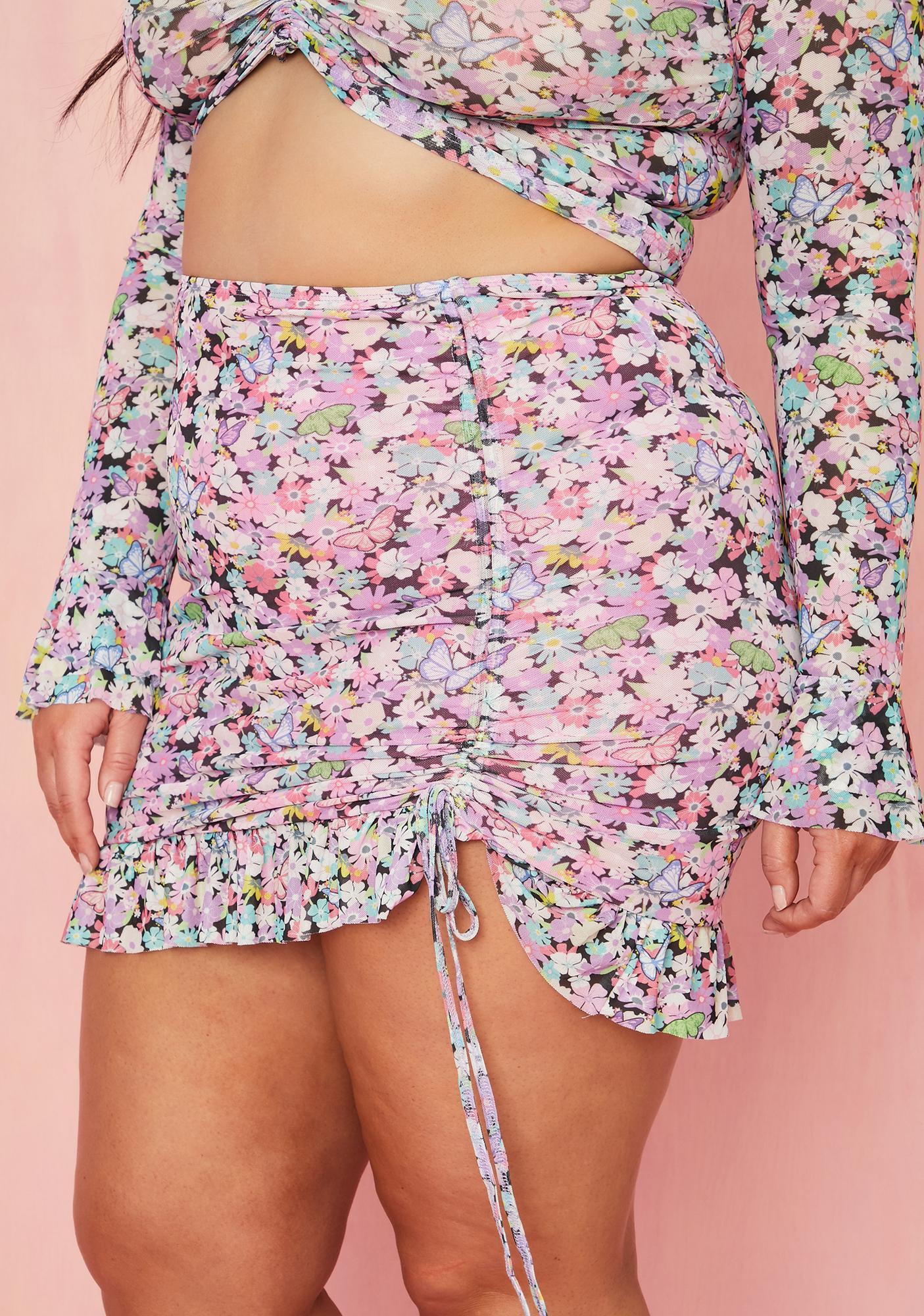 Sugar Thrillz Got Spring Fever Ruched Mini Skirt