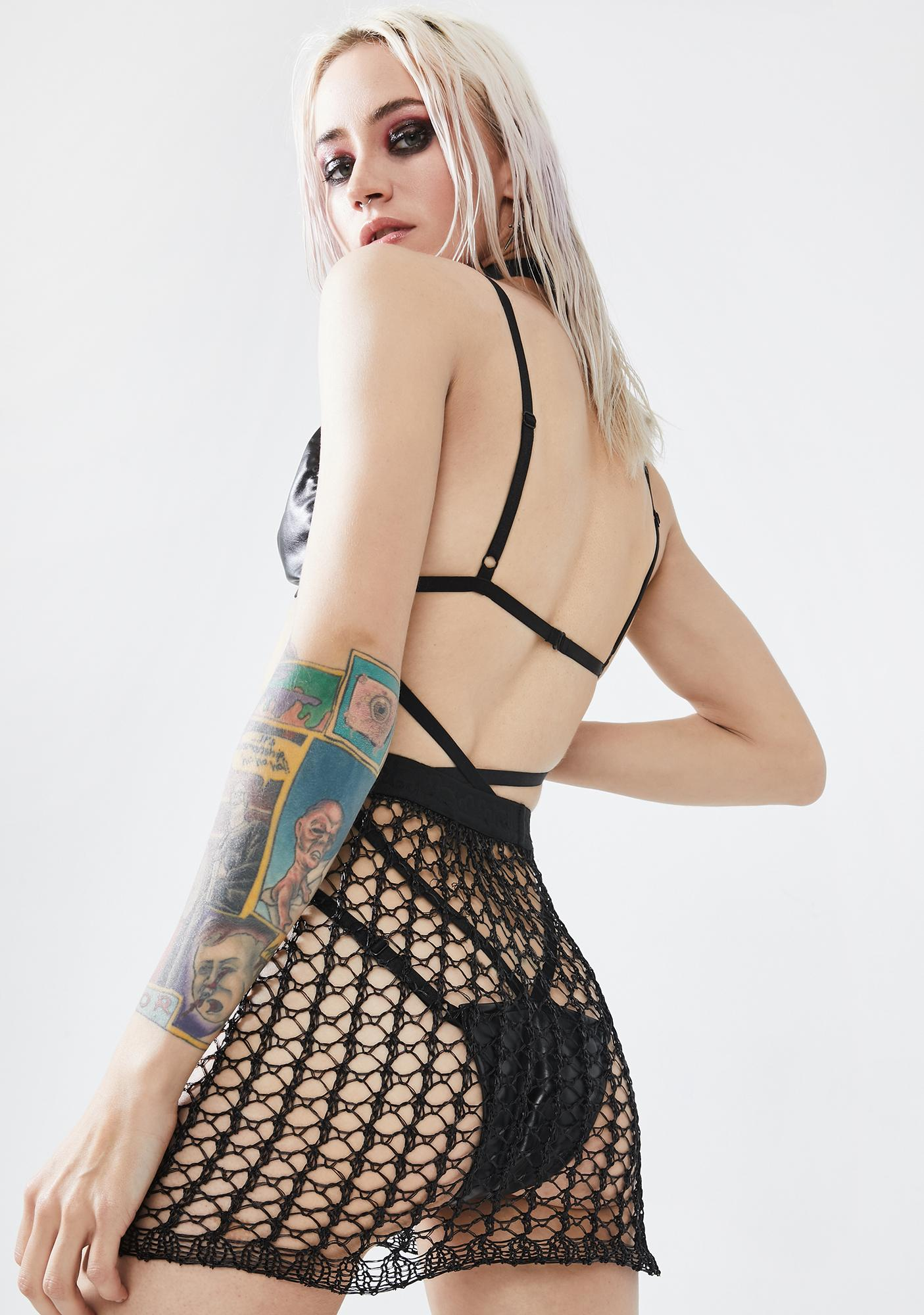 Punk Rave Cyber Tech Sexy Hollow Out Skirt