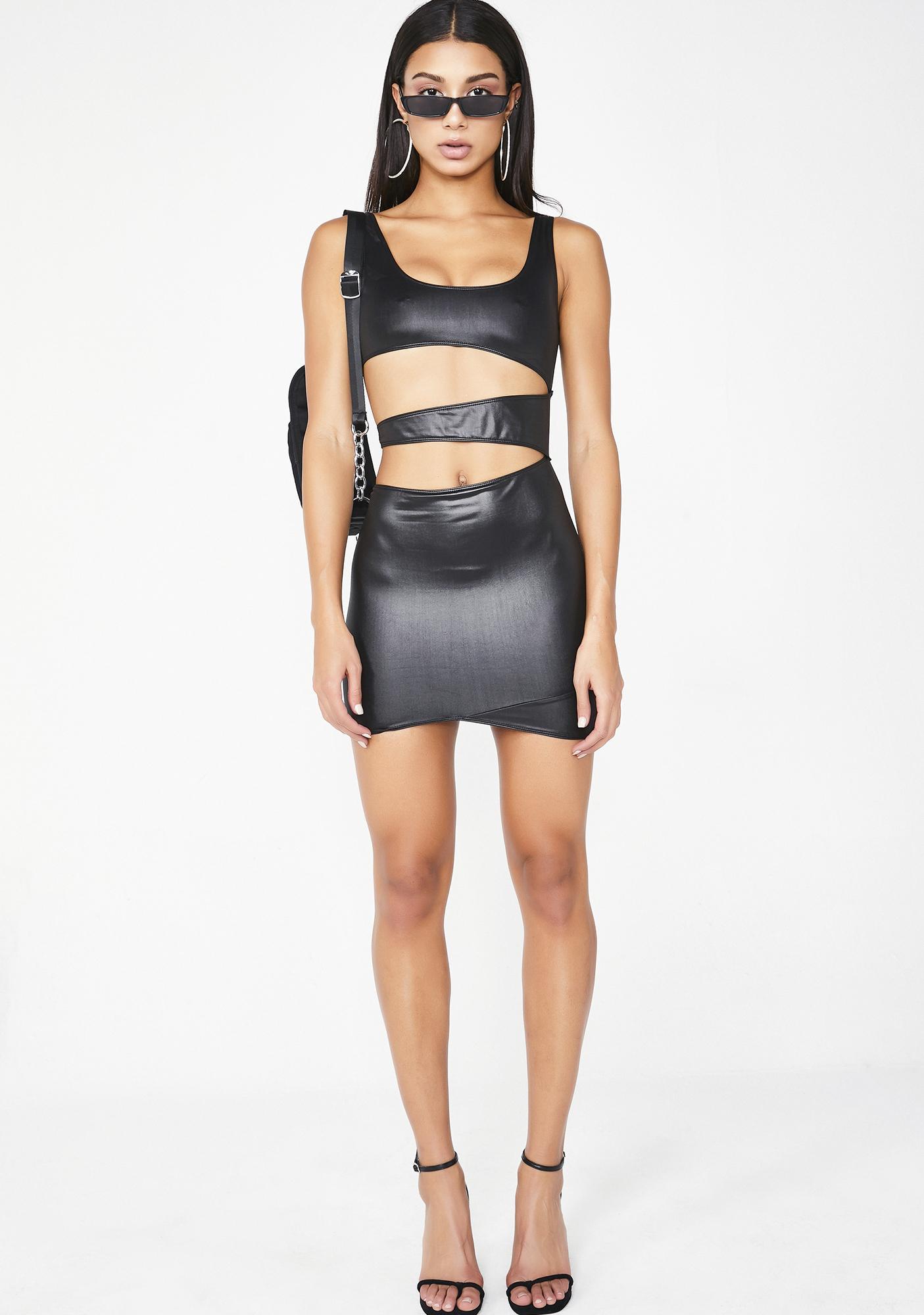 Poster Grl Onyx Command Attention Mini Dress