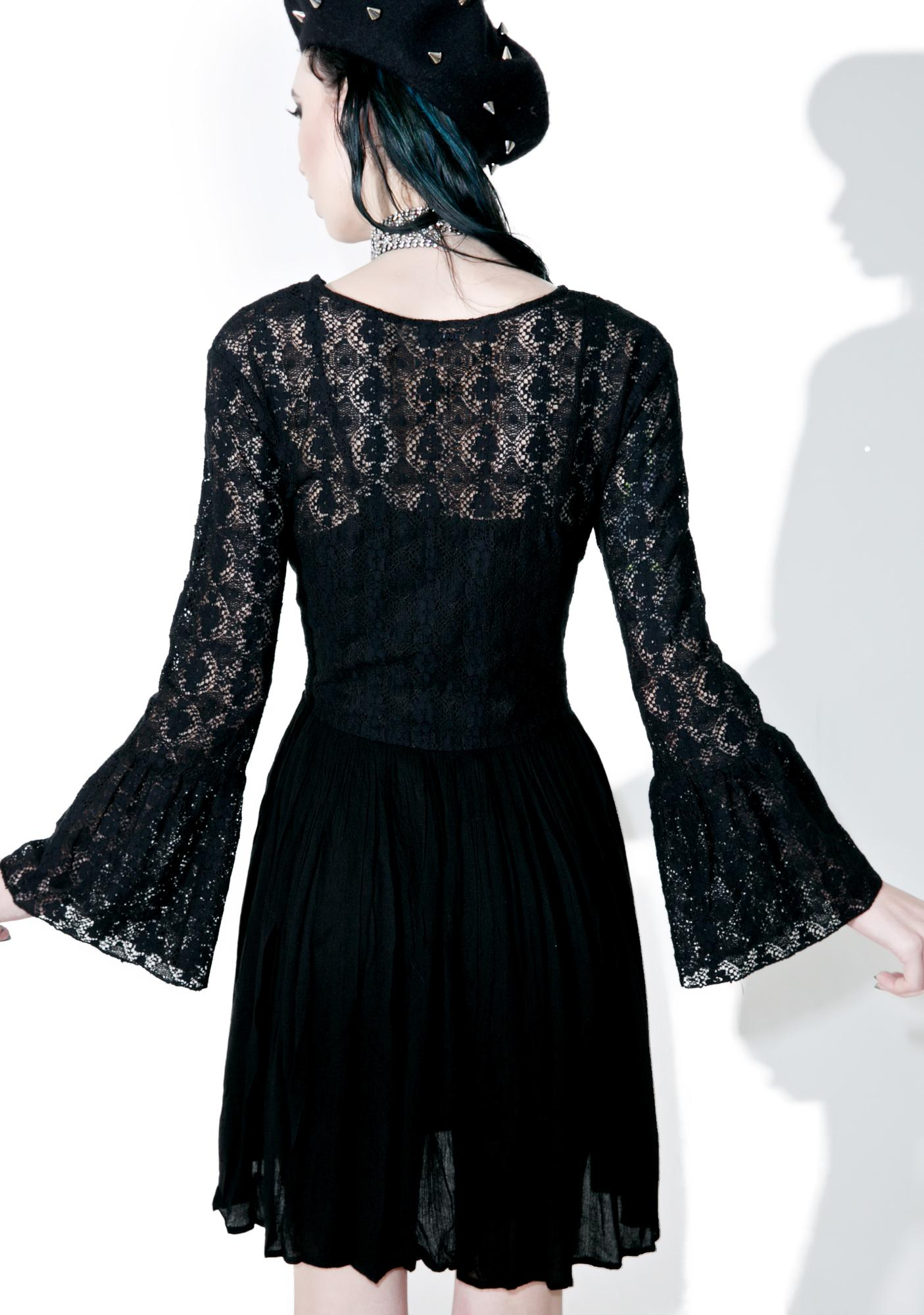 Glamorous Dark Tower Lace Dress