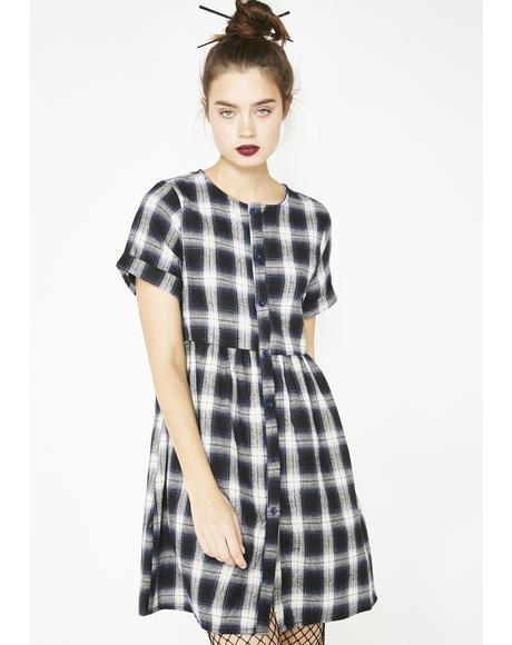 Plaid First Time Babydoll Dress