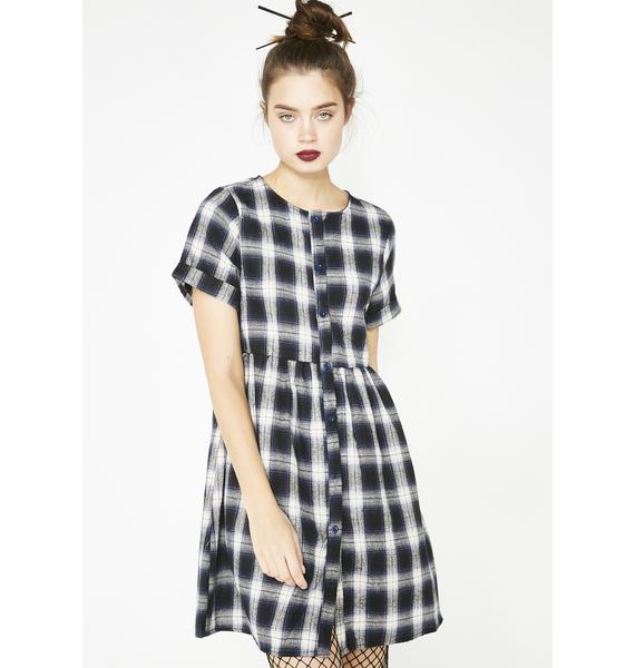 Plaid First Time Babydoll Dress