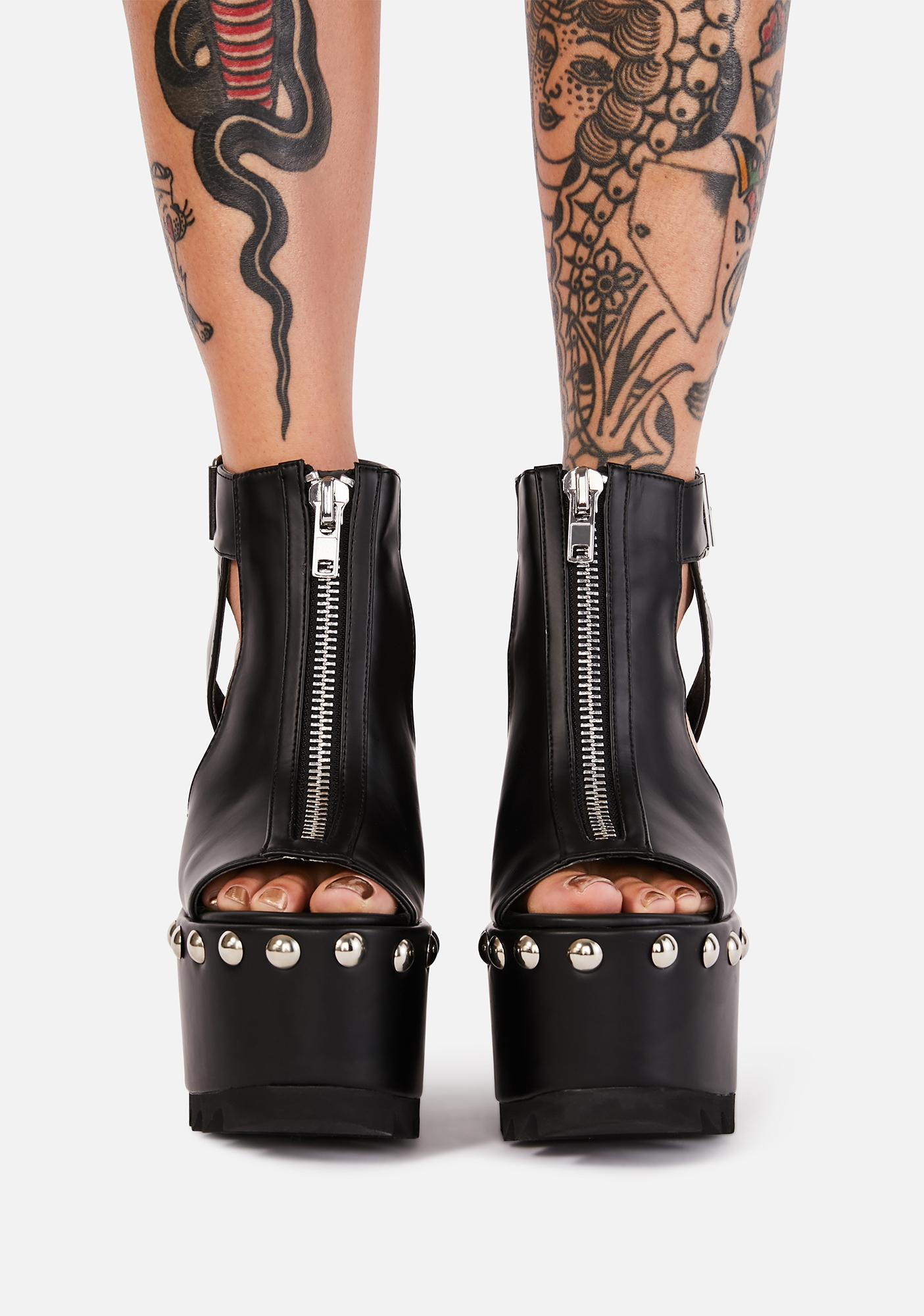 Charla Tedrick Unzipped Platform Heels