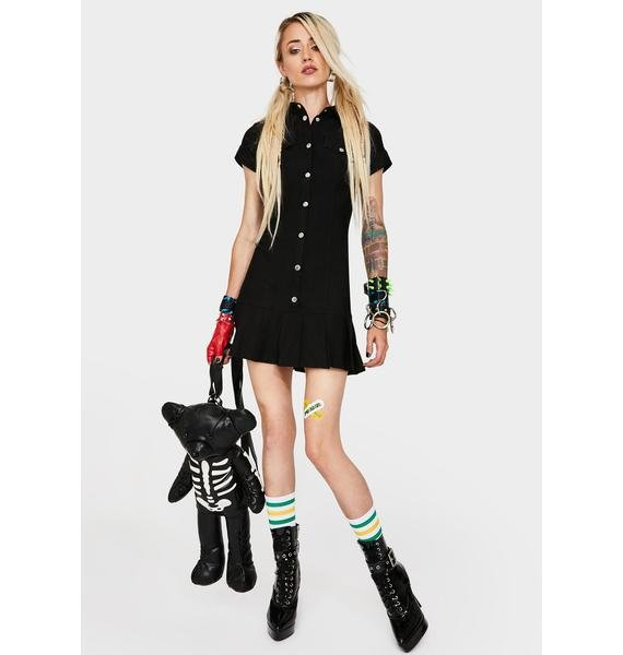 Current Mood Live N' Learn Button Down Dress