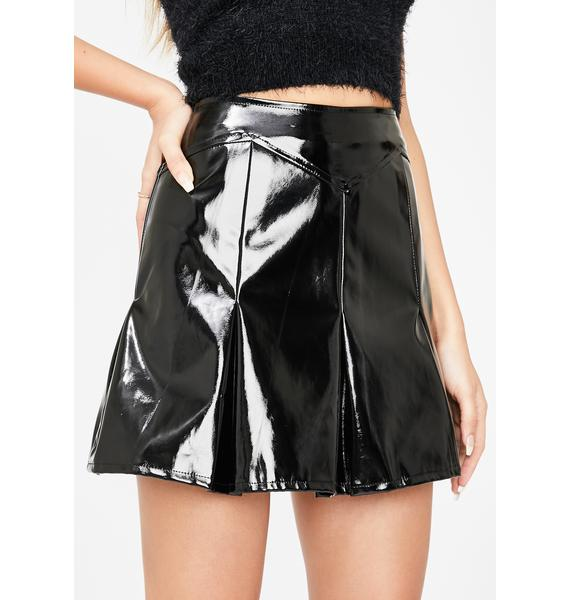 Honey Punch Sinnerz Club PVC Skirt