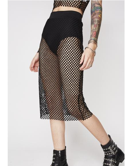 Hooked On You Fishnet Skirt
