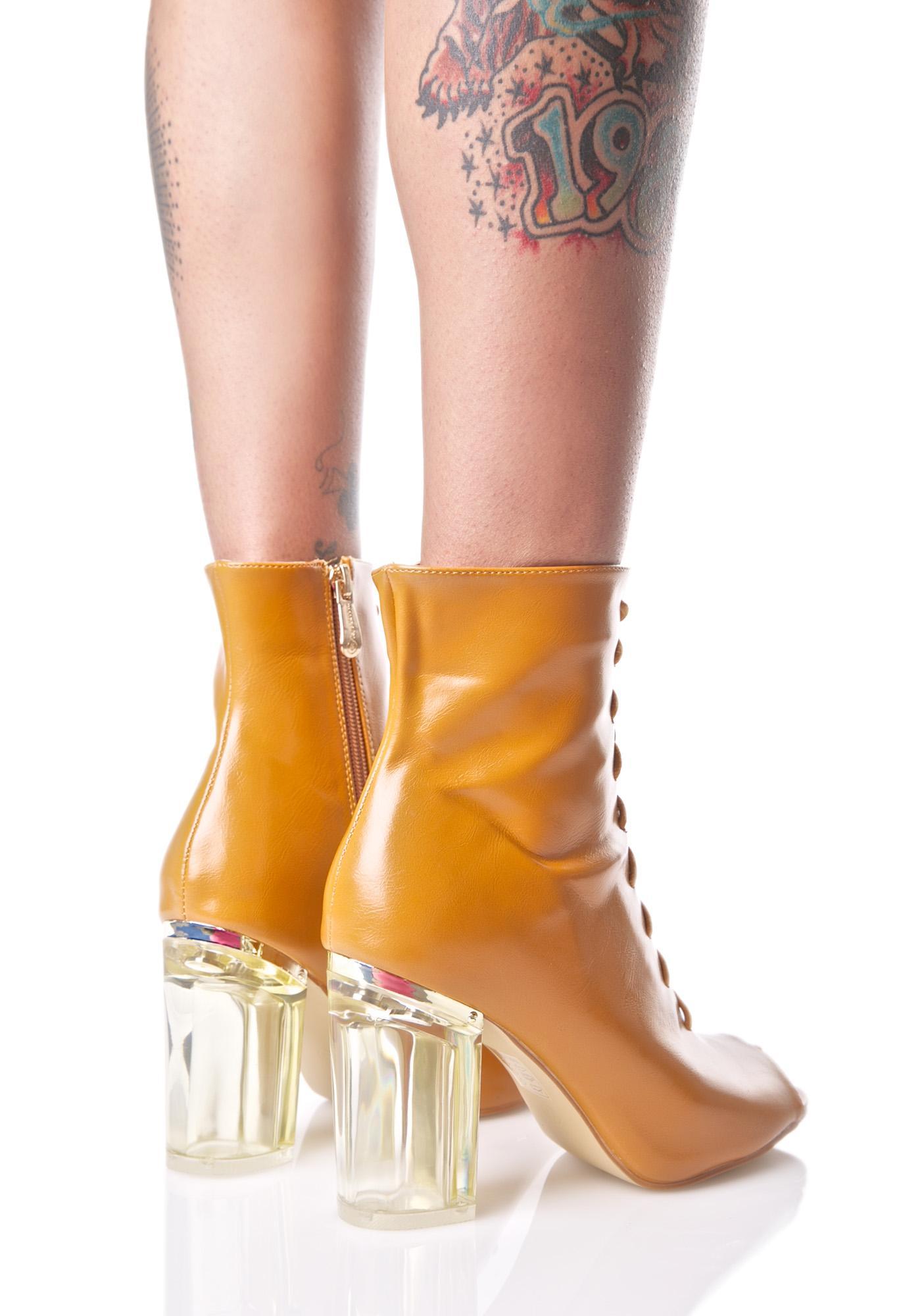 Caramel Jupiter Lace-Up Boots