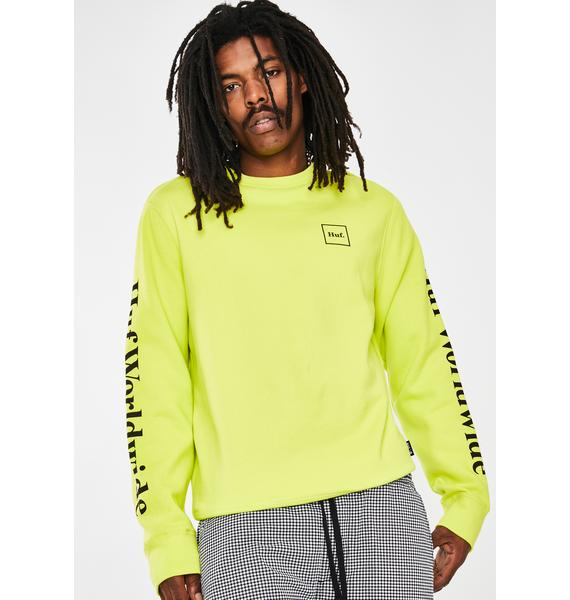 HUF Hot Lime Essentials Domestic Long Sleeve Tee