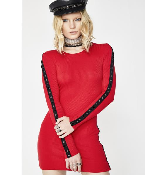 Fight With Fire Grommet Dress