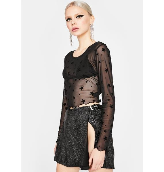 Starring Role Mesh Top