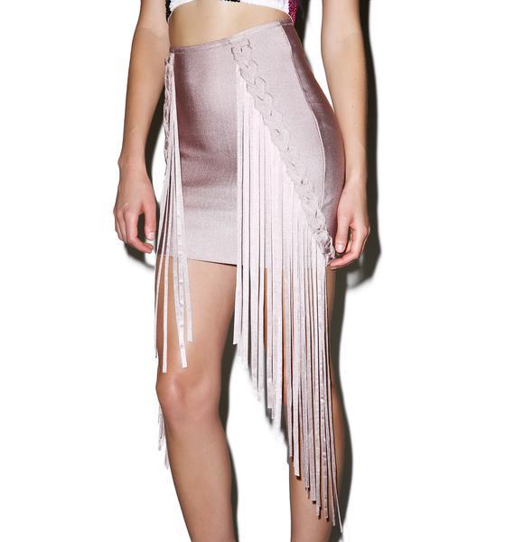 Dance On Me Fringed Skirt