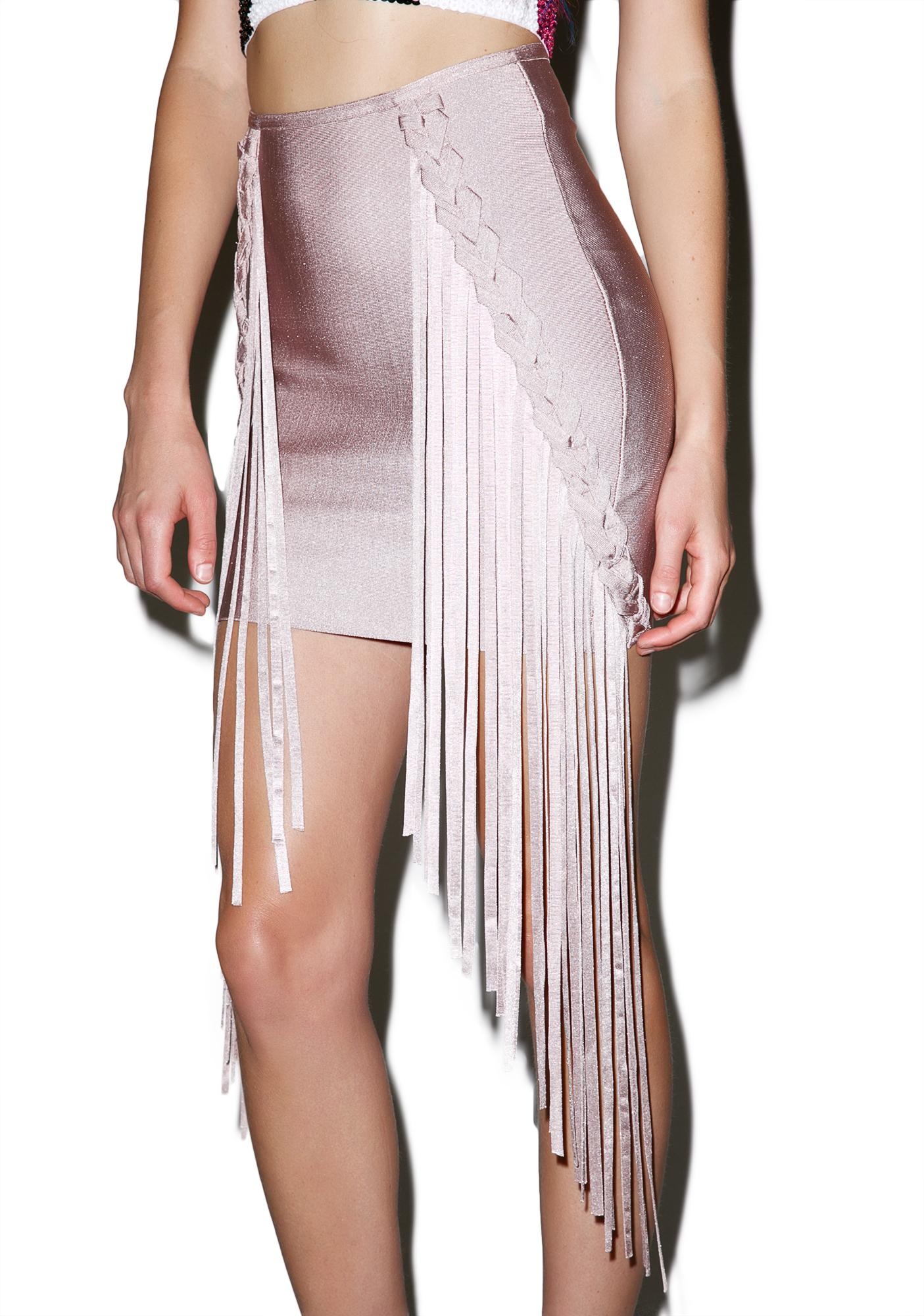 Dance On Me Fringed Skirt