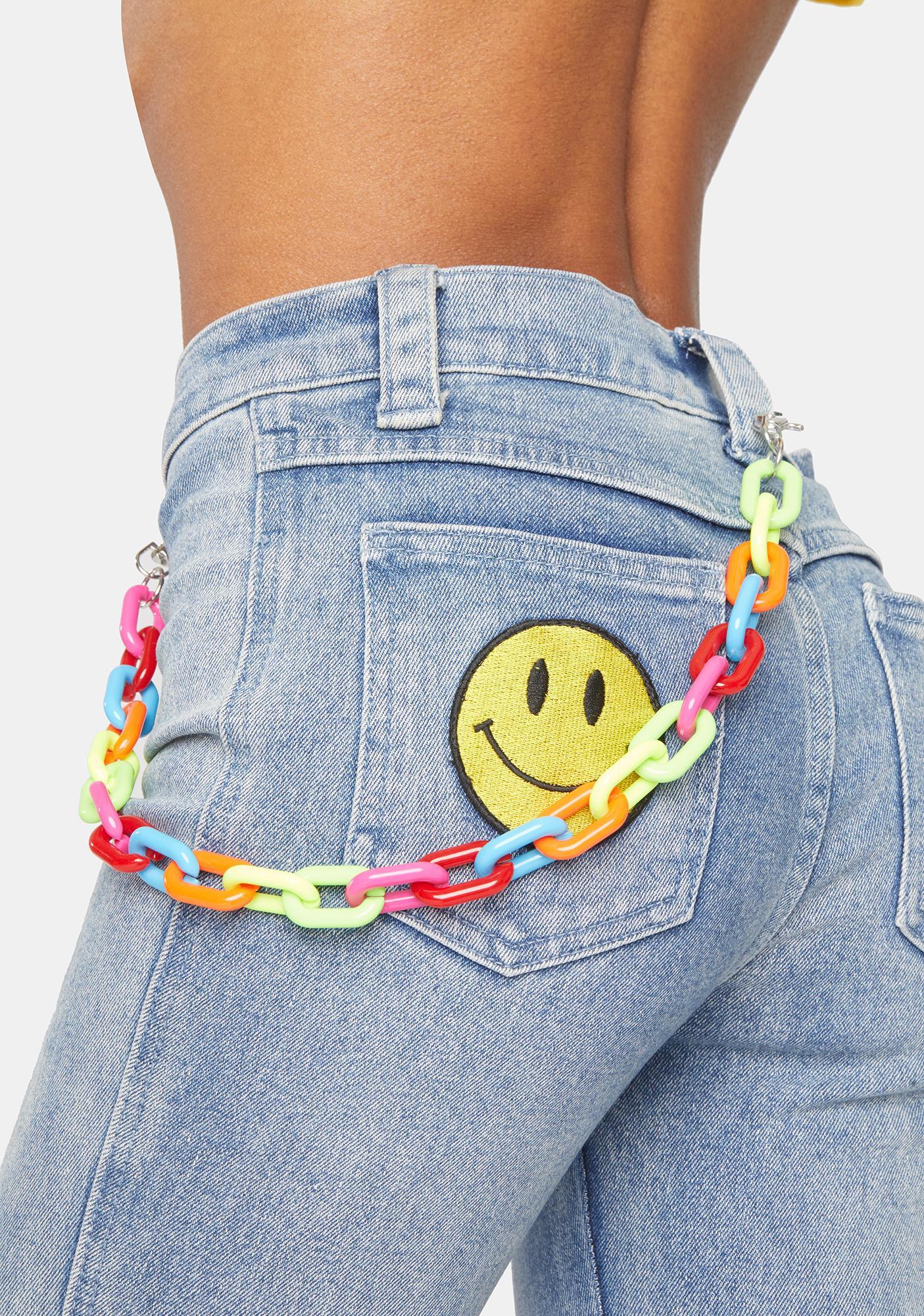 Riding Neon Waves Rainbow Belt Loop Chain