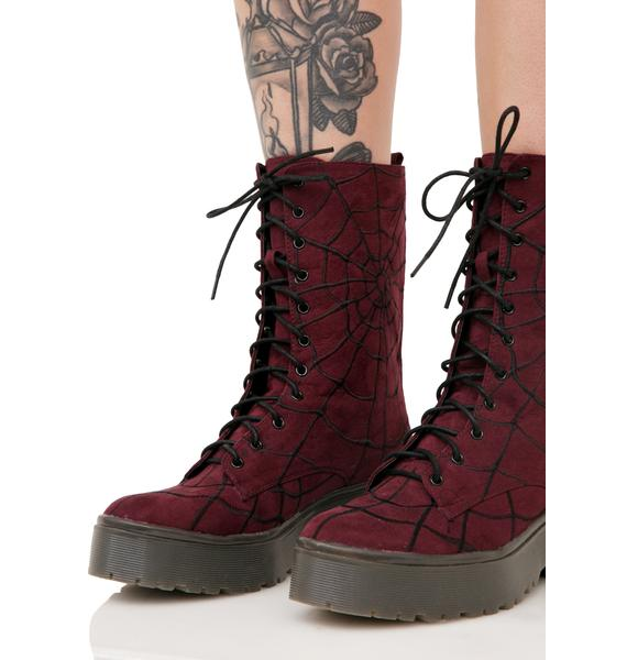 Iron Fist Walking In My Web Heavy Sole Boots