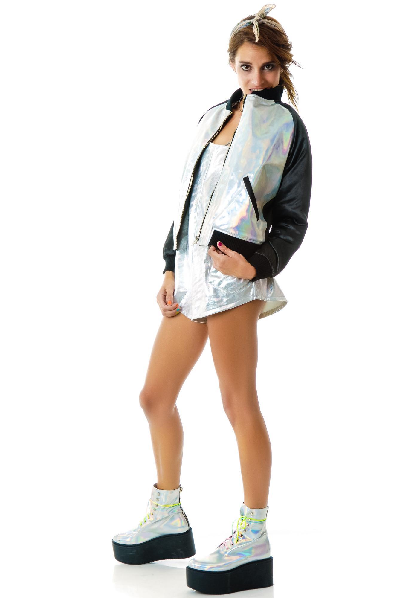 UNIF Holo Bomber Jacket