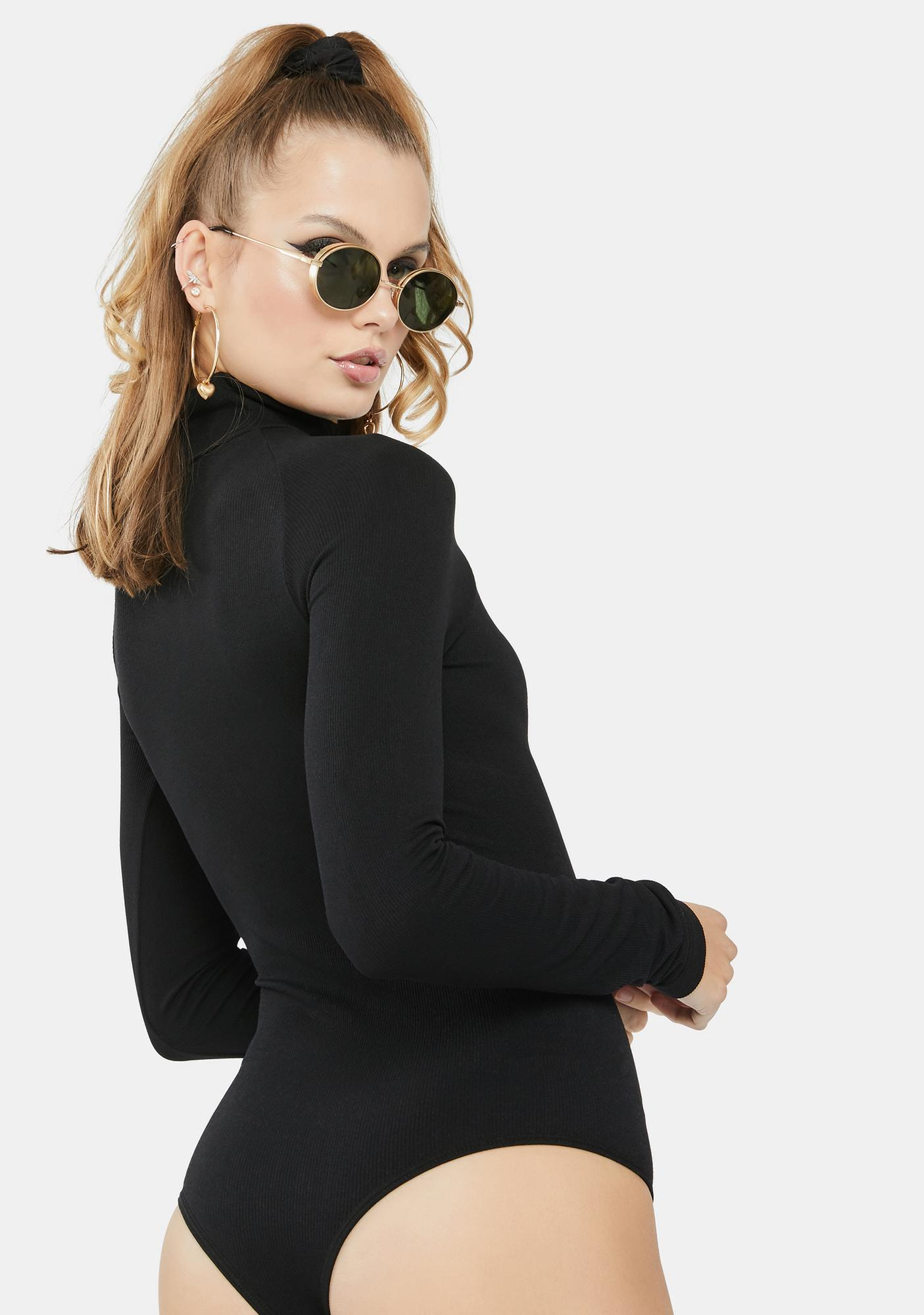 Free People Turtleneck Long Sleeve Bodysuit