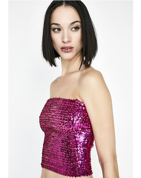 Pixie Disco Bunny Sequin Tube Top