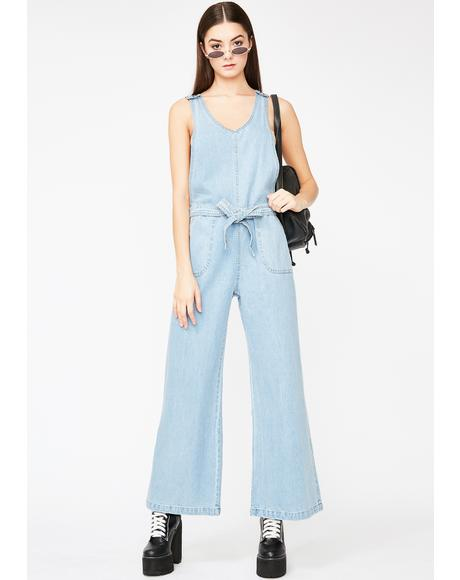 Hi Bish Denim Jumpsuit