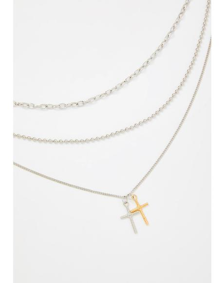 Faithful Strength Layered Necklace