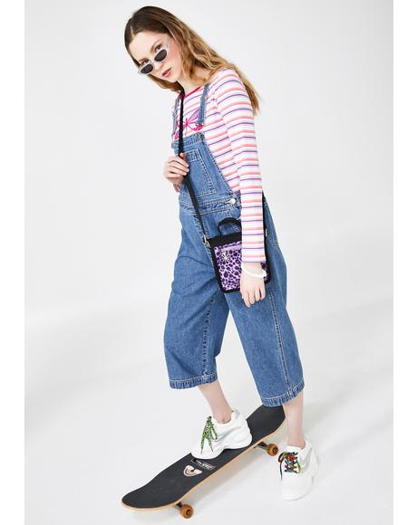 Just Chillaxin' Cropped Overalls