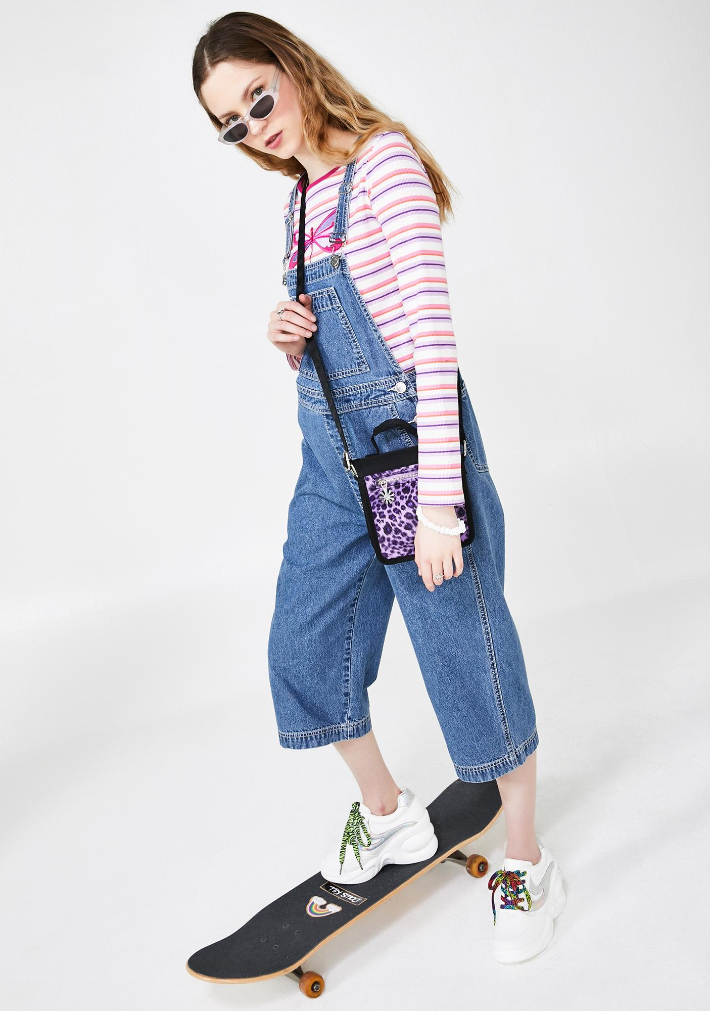 dELiA*s by Dolls Kill Just Chillaxin' Cropped Overalls