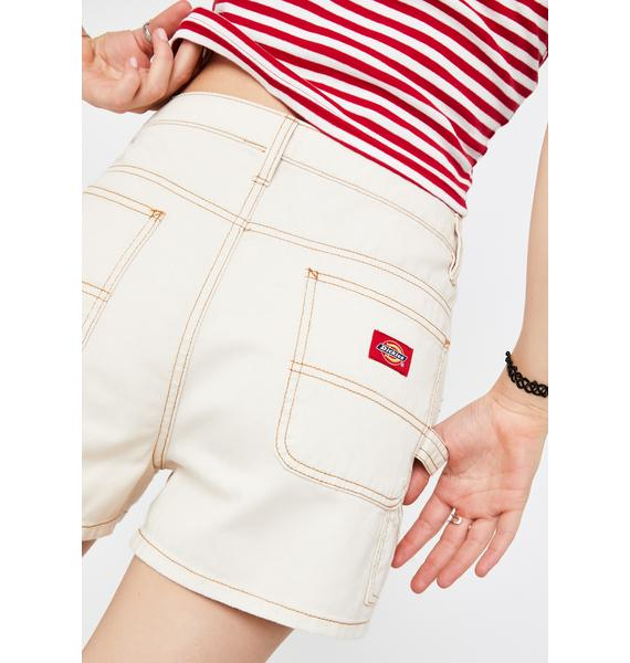 Dickies Girl Natural High Rise Carpenter Shorts