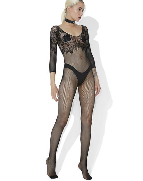 Sugar N' Spice Lace Fishnet Bodysuit