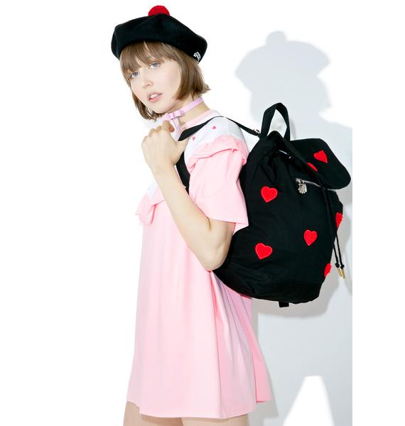 Lazy Oaf Fur Heart Duffel