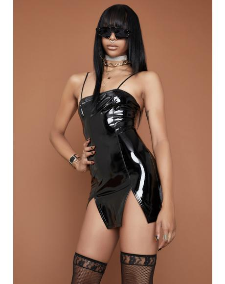 All Eyes On Me PVC Dress