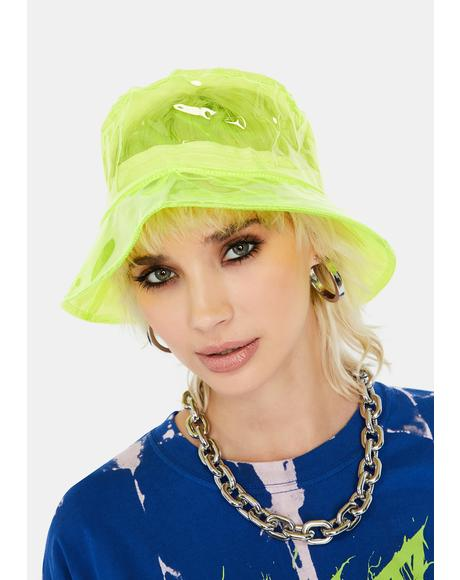 Lime Chic Throwback Vinyl Bucket Hat