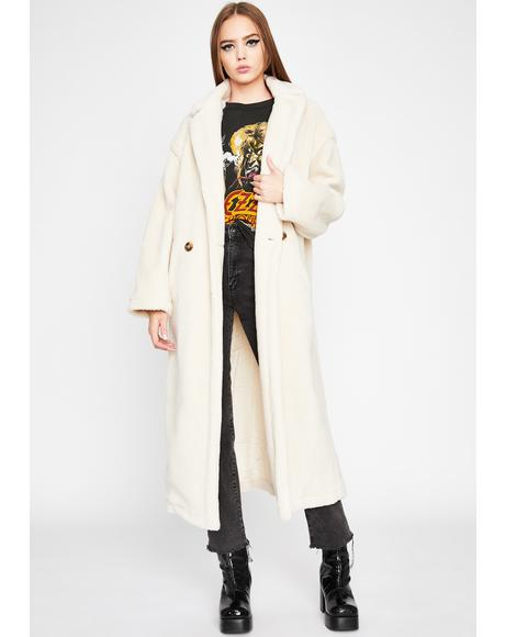 Snow Beary Cozy Sherpa Trench Coat