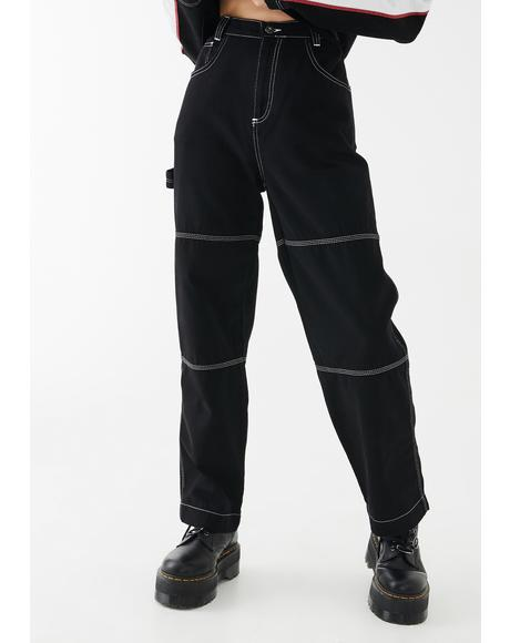 Contrast Stitch Combat Trousers