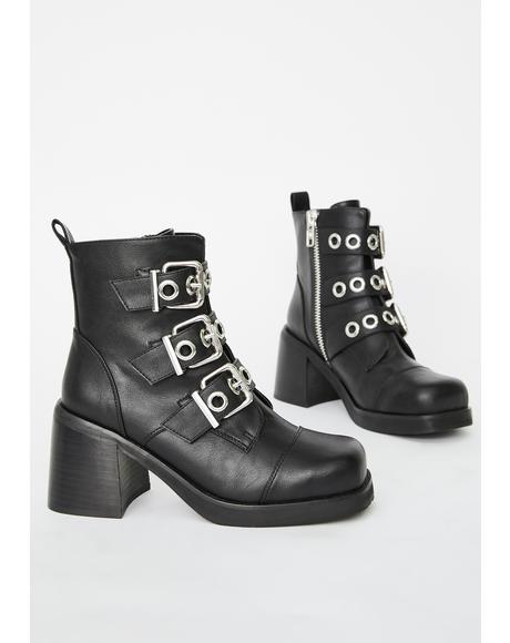 Rebel Law Buckle Boots