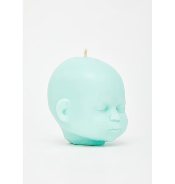 The Blackened Teeth Mint Baby Doll Soy Candle