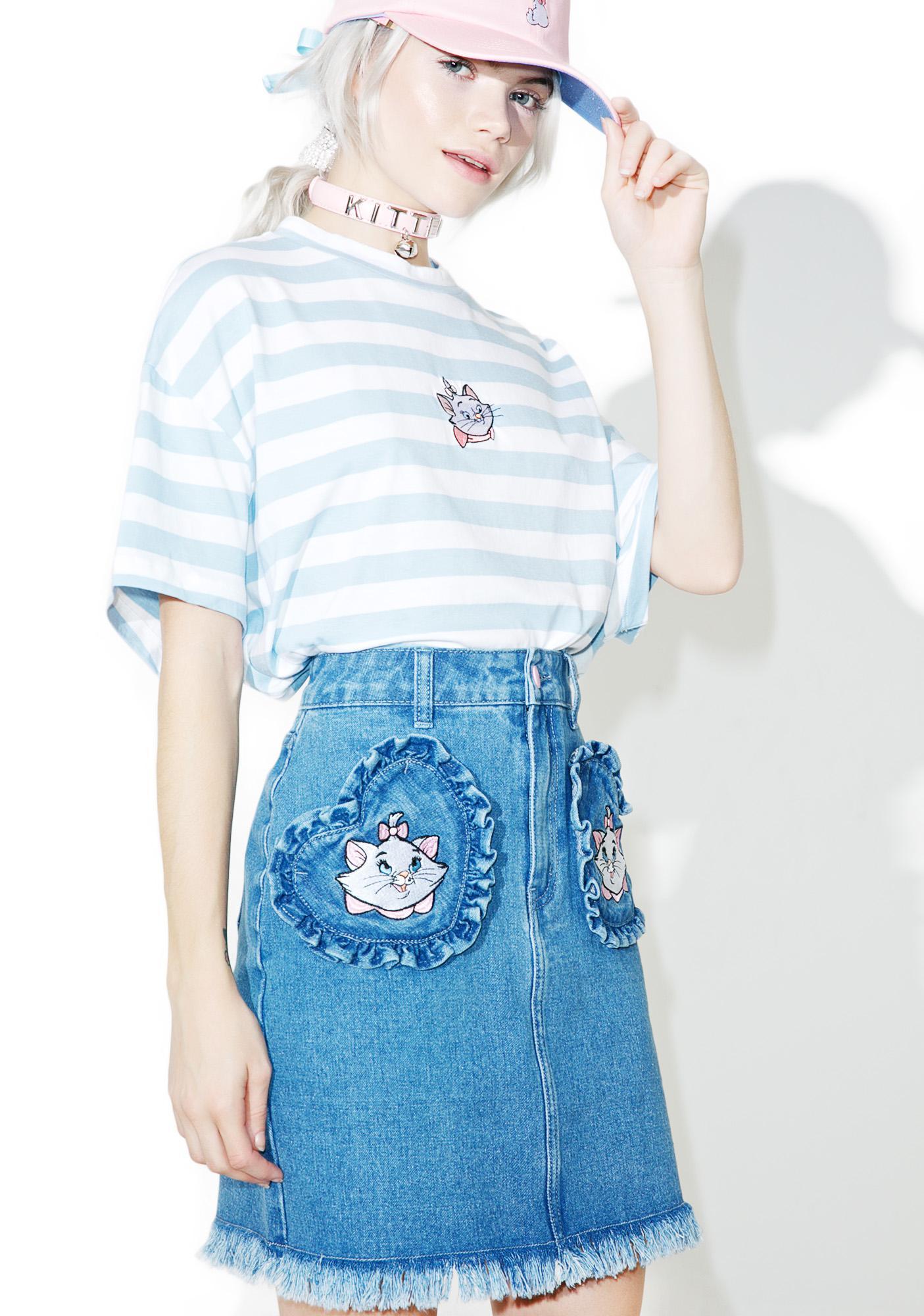 Lazy Oaf X Disney Aristocats Denim Skirt