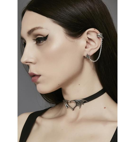 Enchanted Look Pentagram Ear Cuff