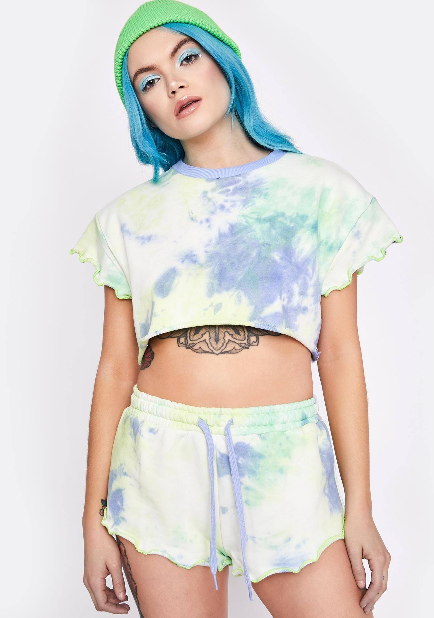 HOROSCOPEZ Green Goddess Pajama Shorts