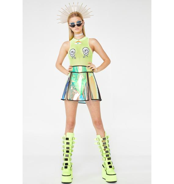 Club Exx Flash Spectrum Clear Skirt