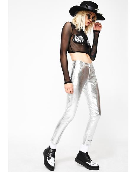 Metallic Skinny Pant