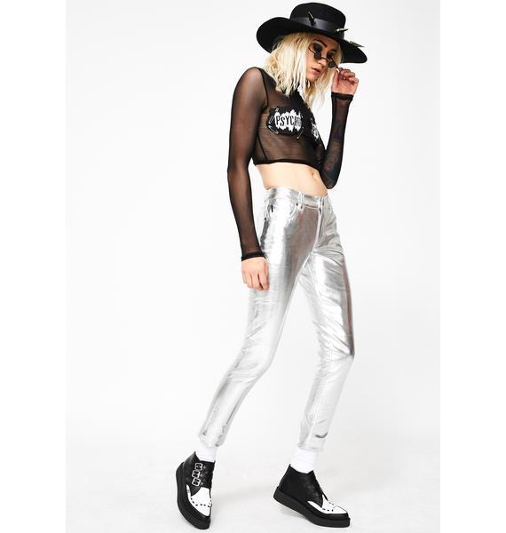 Tripp NYC Metallic Skinny Pant