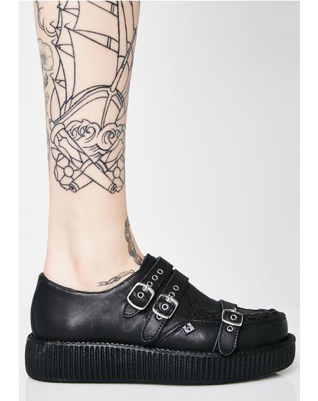 Triple Strap Viva Low Creepers