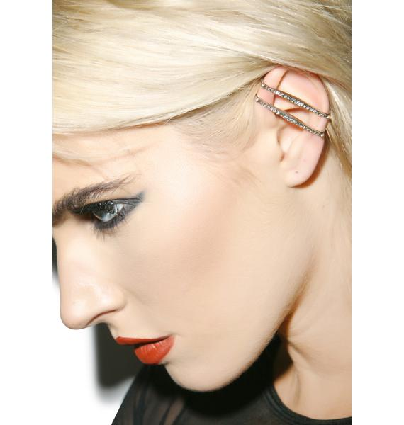 Luv AJ The Pave Spear Ear Cuff Set