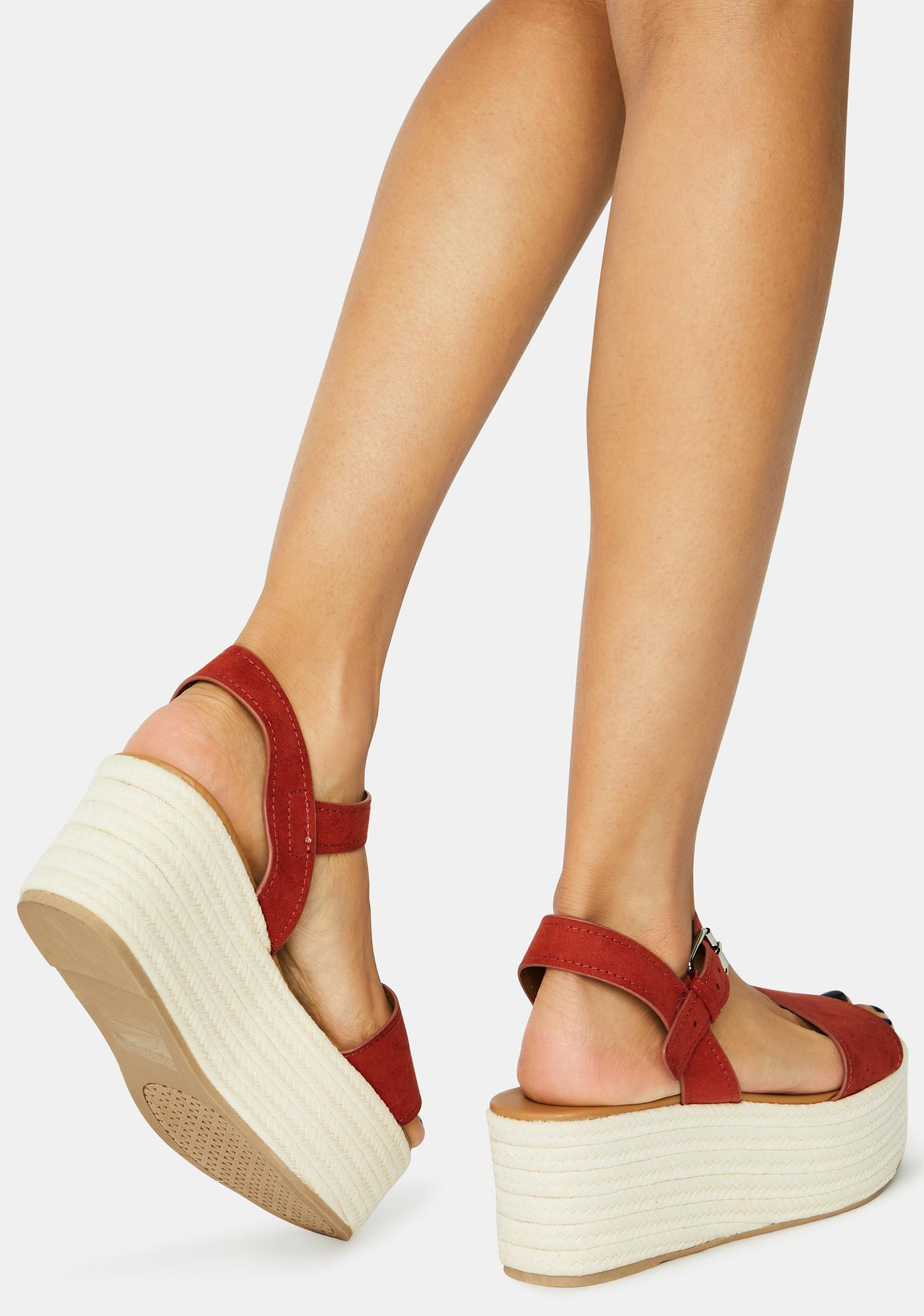 Suede Brick Out With A Bang Platform Sandals
