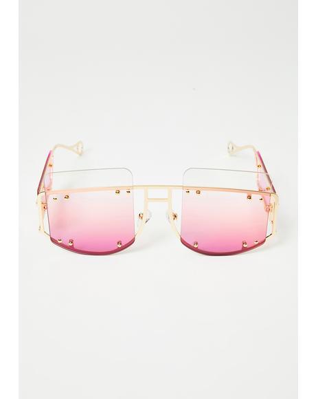 Cyber Martini Square Sunglasses