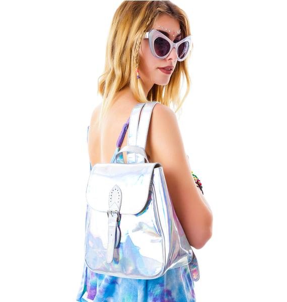 Motel Iridescent Hologram Backpack