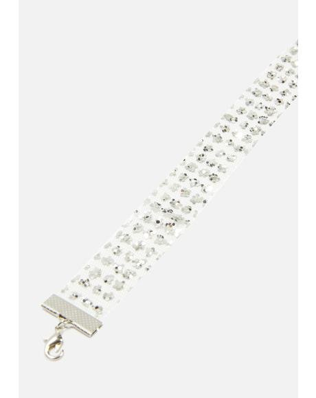 All Glam Rhinestone Choker