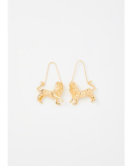 Luxurious Leo Drop Earrings
