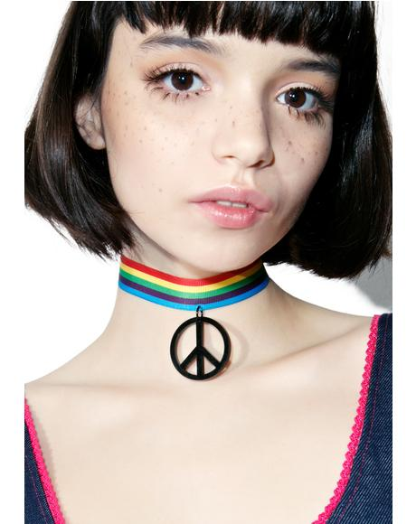 Peace And Love Choker