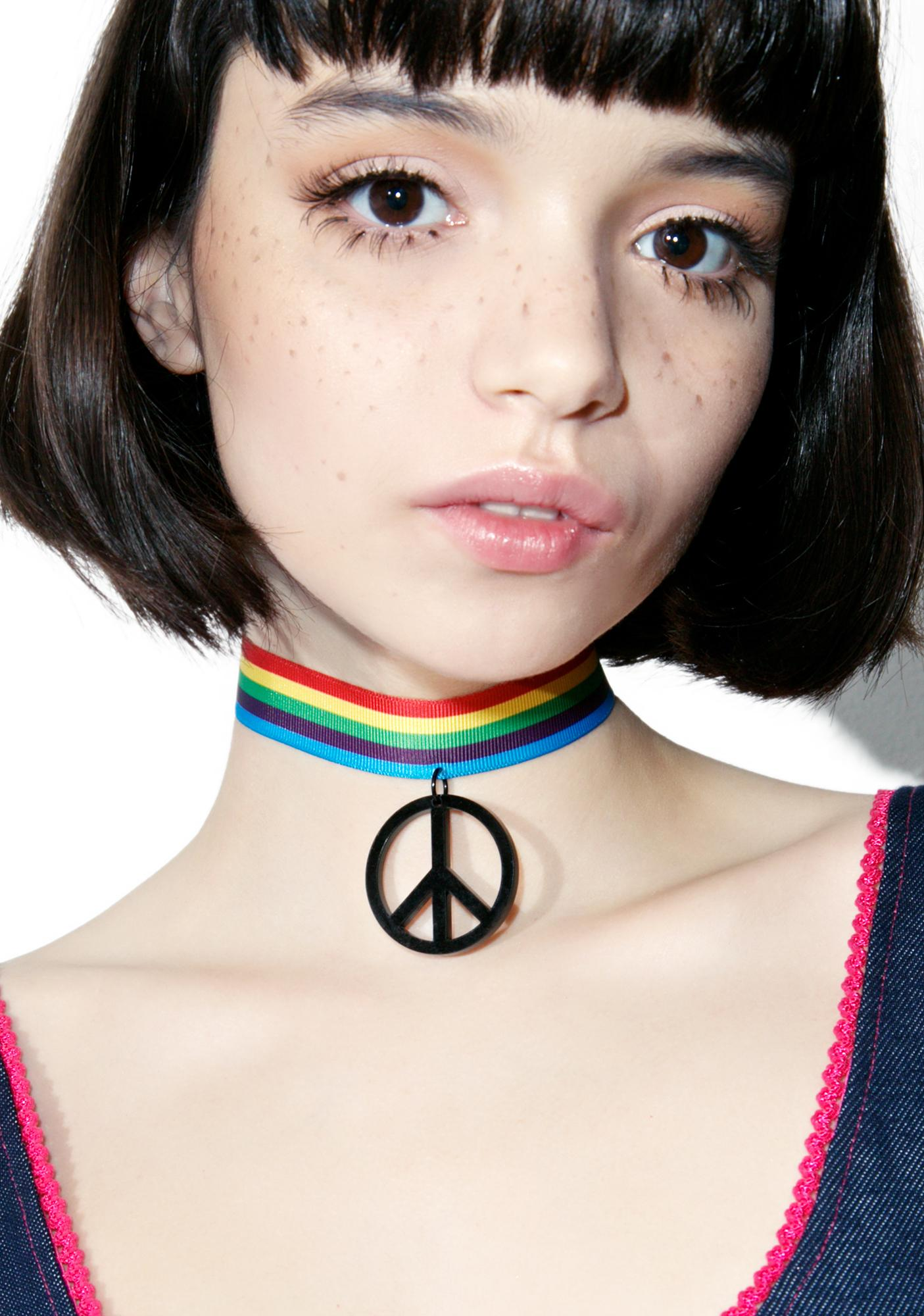 Suzywan Deluxe Peace And Love Choker